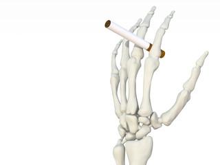 mano scheletro sigaretta