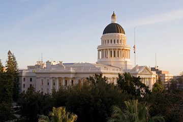 California State Capitol at sunset