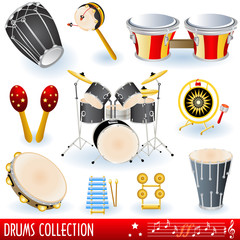 Drums musical collection