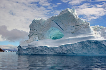 Iceberg in Uummannaq Fjord, Greenland.