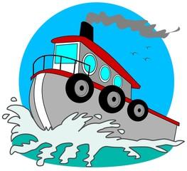 Gray Tugboat