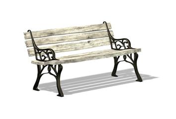old bronze bench