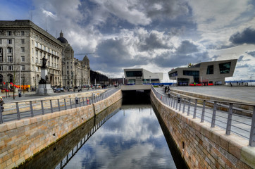 Pier Head Canal in Liverpool