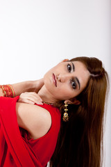 Lovely Indian woman in red
