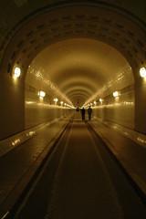 Papiers peints Tunnel Hamburg Alter Elbtunnel, Röhre