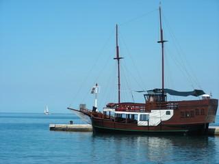 Old renovated sailing boat