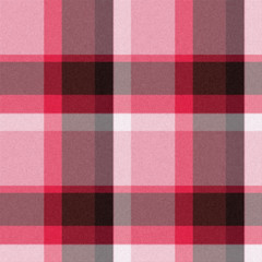 Realistic red seamless tartan or plaid  texture with visible thr