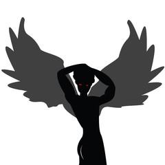 Posing angel