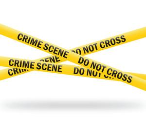 crime scene tape (vector) - fototapety na wymiar