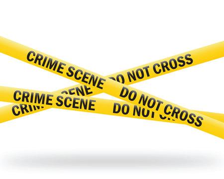 crime scene tape (vector)