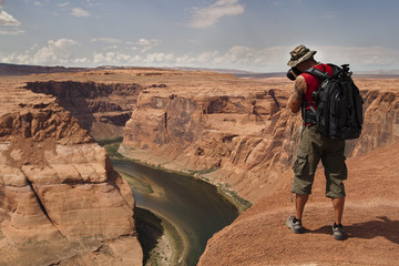 Photographe au Grand Canyon