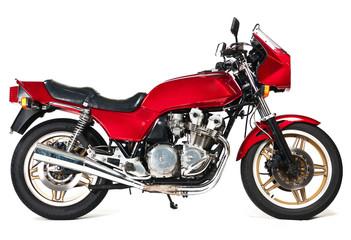 isolated red bike / moto roja aislada