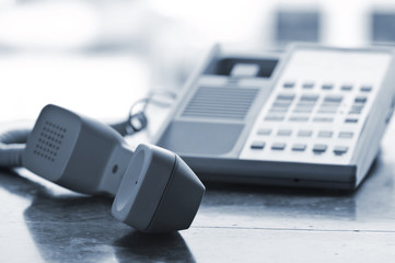 Desk telephone off hook