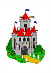 Printed kitchen splashbacks Castle Fairytale castle