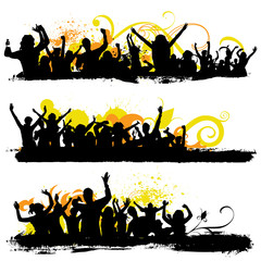 party people with grunge background