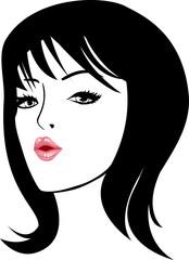 beauty woman face vector illustration