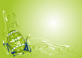 Oster Hintergrund in Grün