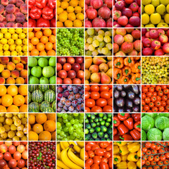 collection of vegetable backgrounds