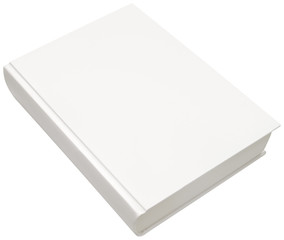 Hard book cover isolated with clipping path