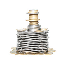 Tower from coins