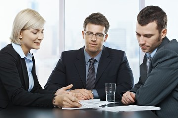 Businesspeople at discussion
