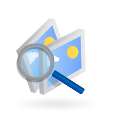 search photos 3d web icon vector