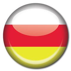 Chapa bandera Osetia del Sur