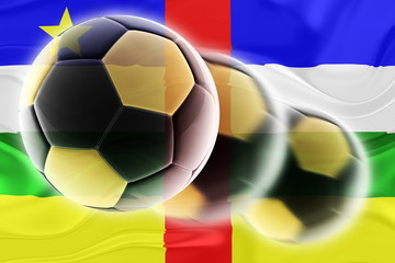 Flag of Central African Republic wavy soccer