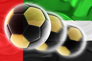 United Arab Emirates flag wavy soccer