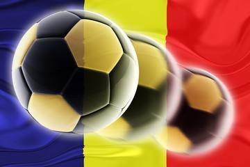 Flag of Chad wavy soccer