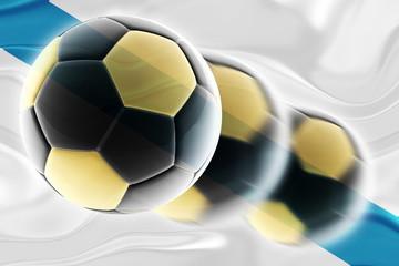 Flag of Galicia Spain wavy soccer