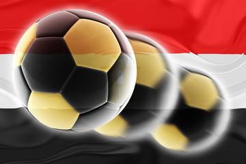 Flag of Egypt wavy soccer