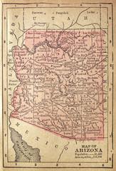 1880 Map of Arizona