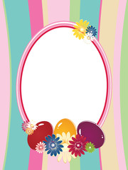 Easter background  with frame