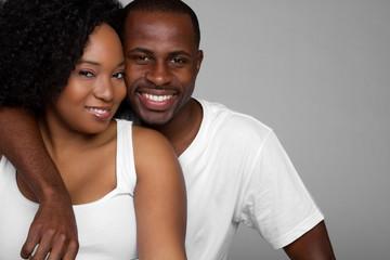 Black Couple Smiling