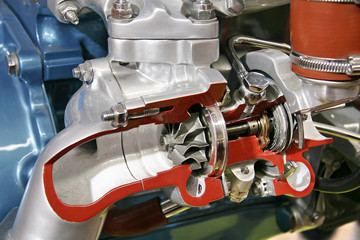 Turbo compressor cross section