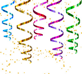 Party streamers. Vector