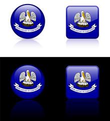 Louisiana Flag Icon on Internet Button