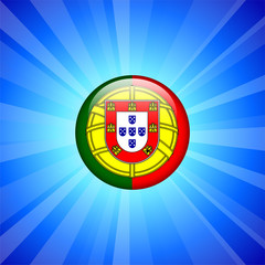 Portugal Flag Icon on Internet Button