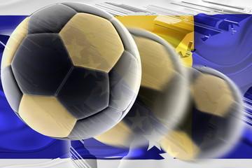 Flag of Bosnia Hertzigovina wavy soccer