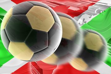 Flag of Burundi wavy soccer
