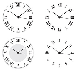 four different clocks