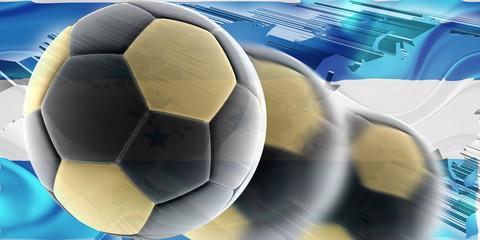Flag of Honduras wavy soccer