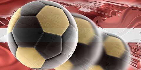 Flag of Latvia wavy soccer