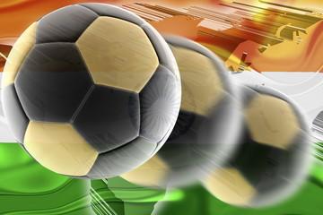 Flag of India wavy soccer