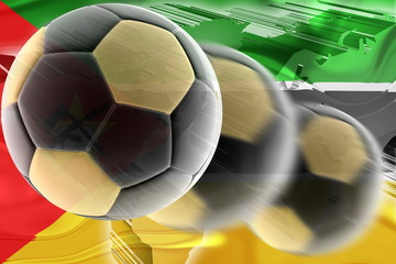 Flag of Mozambique wavy soccer