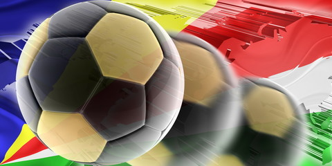Flag of Seychelles wavy soccer