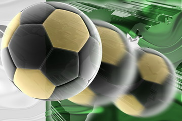 Flag of Pakistan wavy soccer