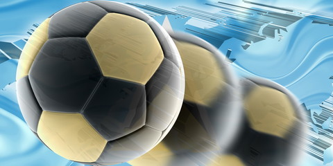 Flag of Saint Lucia wavy soccer