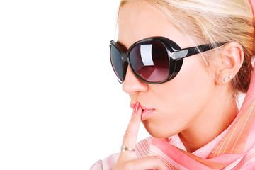 Beautiful sensuality girl in sunglasses